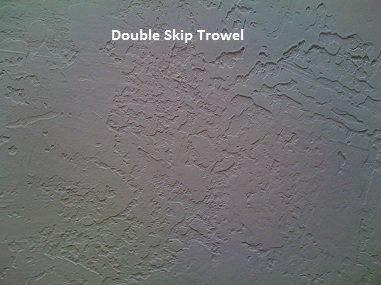Picture of Double skip trowel texture