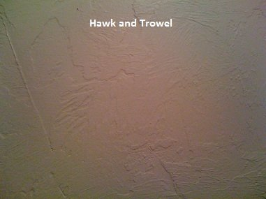hawk and trowel drywall texture
