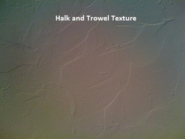 Picture of halk and trowel texture