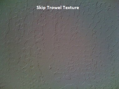 Picture of skip trowel texture