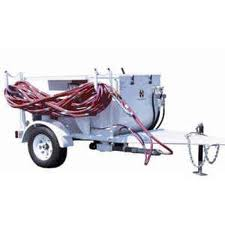 trailer mounted spray rig used for splatter, popcorn, orange peel and other drywall textures