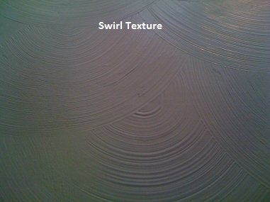 Picture of swirl drywall texture