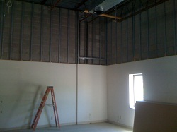 Ultralight drywall from ten feet to twenty feet