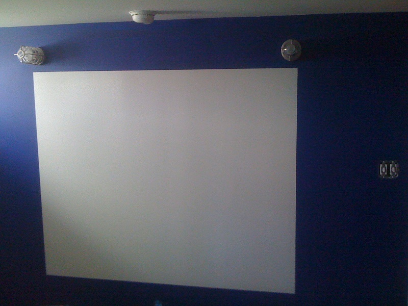 Picture Of Eraseable Whiteboard Painted On Dark Blue Bedroom Wall